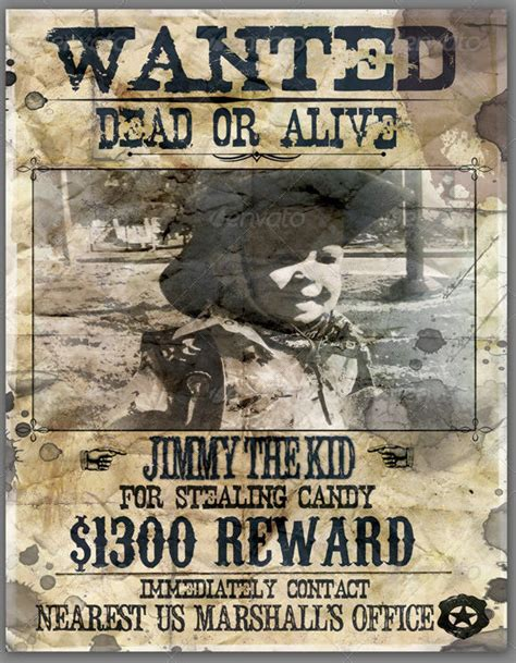 wanted poster templates  psd  pages