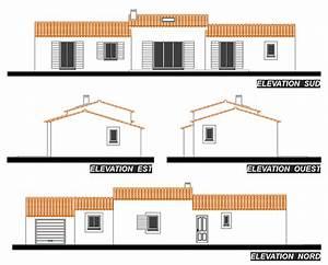 Plan Facade Maison : villa fanny plan de maison provence construction de maison aix en provence provence ~ Melissatoandfro.com Idées de Décoration