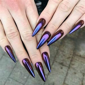 pin by martyna on nails chrome nails designs edgy