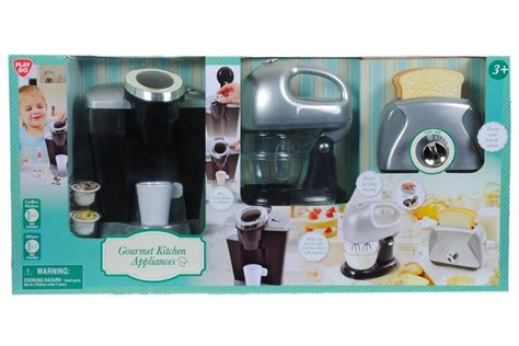 kitchen appliance play set coffee maker mixer toaster kids