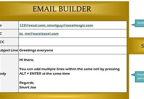 email builder template  excel templates