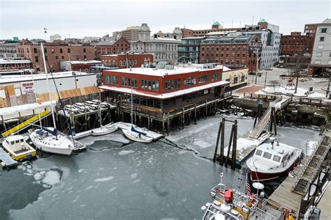 Portland, Maine Winter Old Port Harbor Aerial Photo by ...