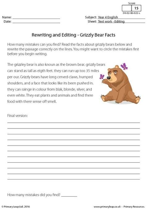 primaryleap co uk rewriting and editing grizzly bear