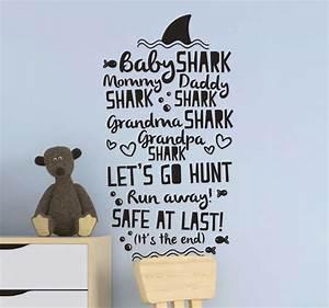 baby shark lyrics song sticker tenstickers
