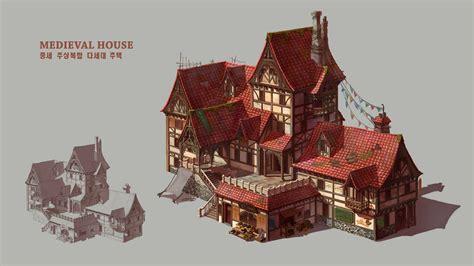 artstation medieval house el wie
