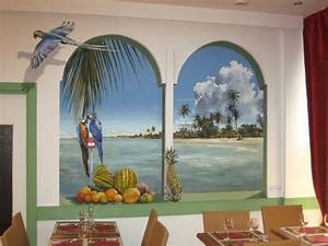 Mur Trompe L Oeil : martinique fresques en trompe l 39 oeil peinture murale ~ Melissatoandfro.com Idées de Décoration
