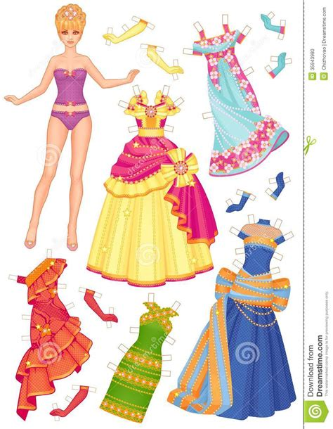 doll  dresses  cut outs stock illustration