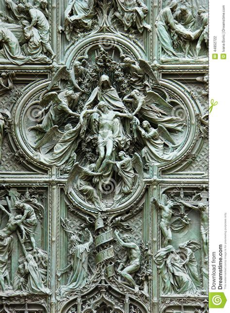 details   gate  duomo cathedral stock photo image