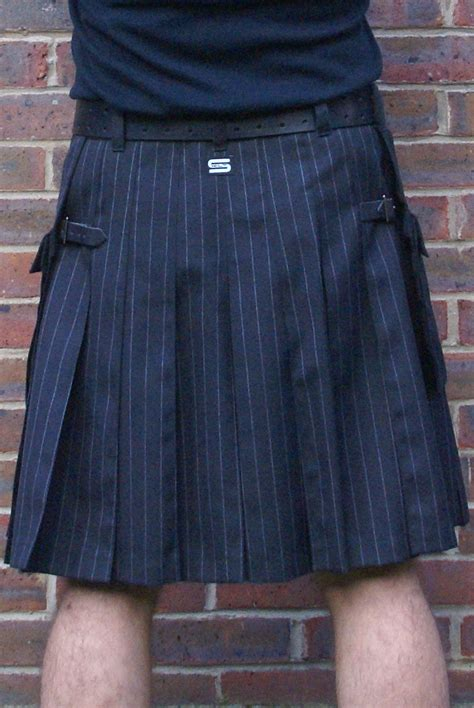 grey chalk pin stripe kilt with raver dashing tweed modern kilts for for sale