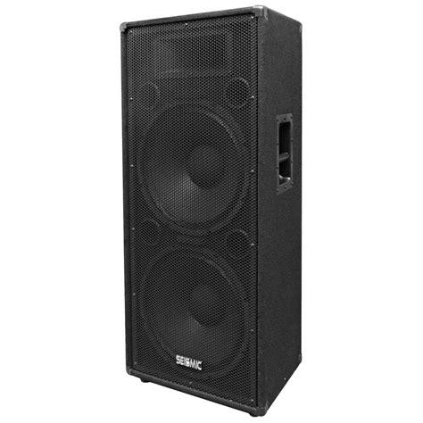 dj speaker box cabinet pair of dual 15 quot pa dj speaker cabinets with titanium