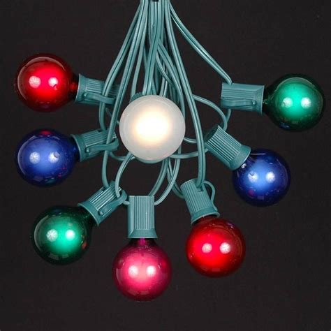 multi colored g40 globe outdoor string light set on