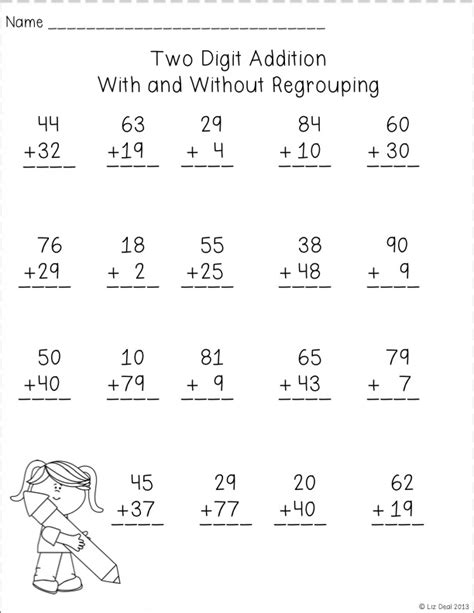 grade math worksheet addition with regrouping 18 best images of by addition worksheet 1 single digit