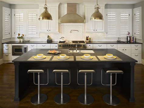 white kitchen cabinets with island black kitchen islands pictures ideas tips from hgtv hgtv 2075
