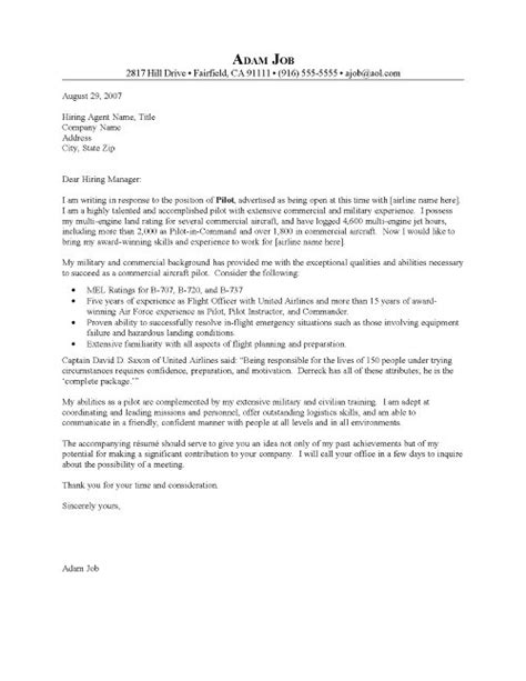 Pilot Resume Service by Airline Passenger Service Cover Letter