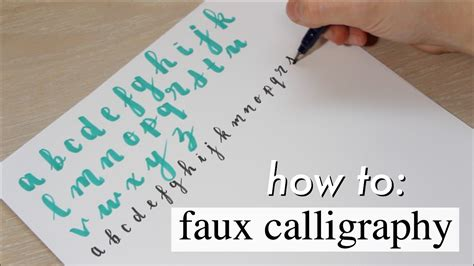 How To Faux Calligraphy  Study Effectively!! Youtube