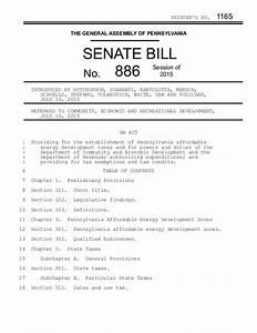 Pennsylvania Senate Bill 886 - Establishes Tax Breaks and ...