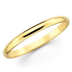 10k solid yellow gold 2mm plain 39 s and 39 s wedding band ring ebay - Gold Wedding Bands