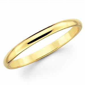 10k solid yellow gold 2mm plain men39s and women39s wedding With plain gold band wedding ring