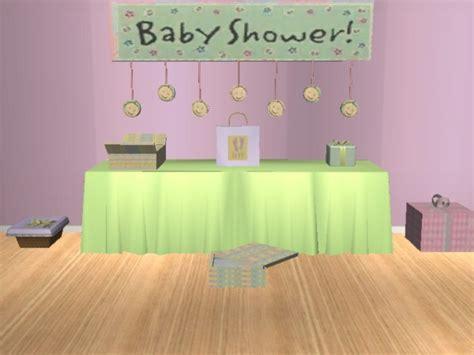 mod  sims baby shower mesh set