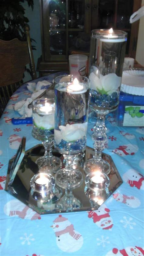 My dollar tree centerpieces are complete ; )   Weddingbee