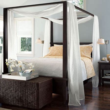 canopy bed drapes home dzine bedrooms beautiful 4 post bed designs