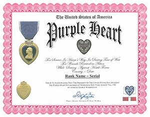 purple heart recipients download pdf With purple heart citation template
