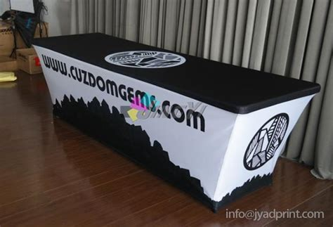 Custom Printed Spandex Table Covers, Trade Show Tablecloth