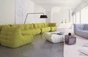 design schlafsofa ligne roset big couches in plain living room