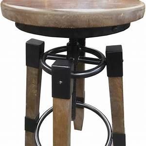 Tabouret Style Industriel : tabouret de bar ajustable en hauteur style industriel ~ Teatrodelosmanantiales.com Idées de Décoration