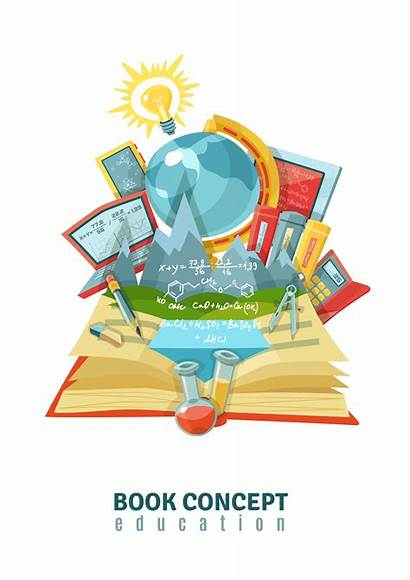 Education Vector Illustration Abstract Open Concept Composition