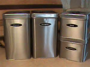 kitchen canister sets stainless steel brushed stainless steel 4 kitchen canister set with