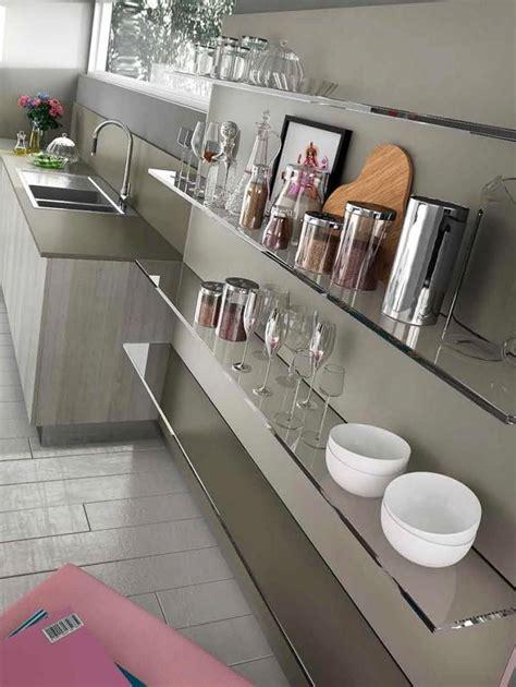 cuisine verre étagères de cuisine en verre design monprojetcuisine fr