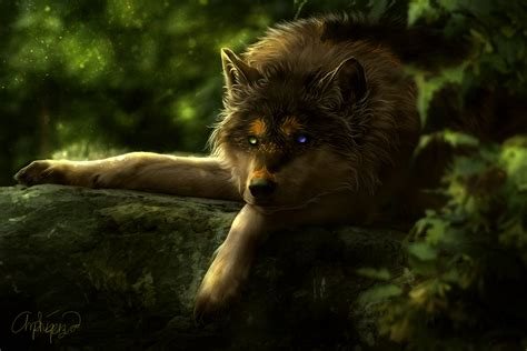 fantasy wolf  uhd   wallpaper