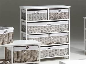 meuble en osier pour salle de bain With meuble osier