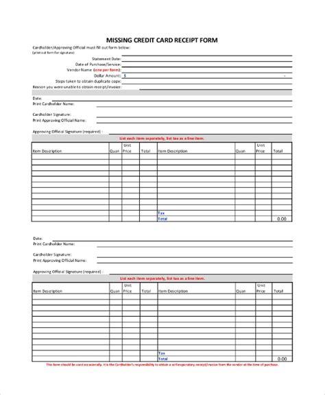 sample receipts   ms word