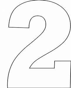 number 2 stencil clipart best With number 2 cake template