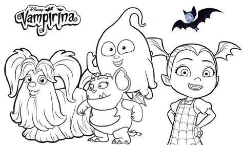 disney vampirina coloring page collection coloring pages
