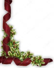 Christmas Holly Corner Border