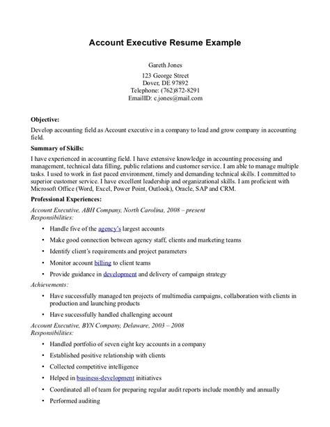 executive summary for accounting sle profesional