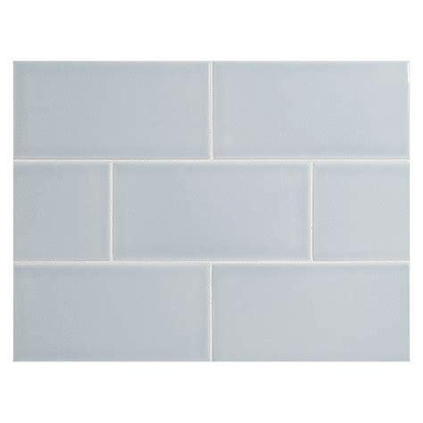 """Vermeere Ceramic Tile  Ice Blue Gloss  3"""" X 6"""" Subway Tile"""