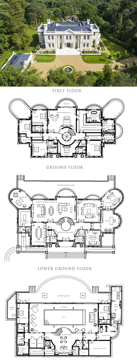Mansion Plans by The Rarts A Stately Newly Built Mansion In Surrey