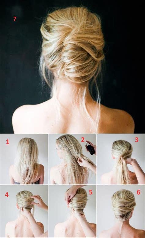 easy step  step hairstyles  medium hair
