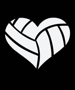 U0026quot, I, Love, Volleyball, Heart, U0026quot, Posters, By, Bubltees