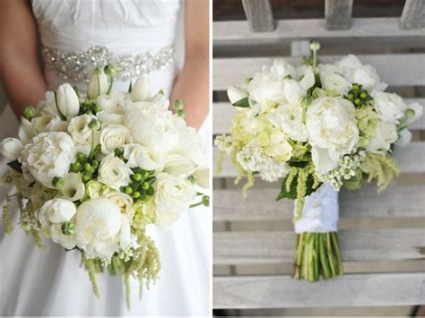 White Peony Bridal Bouquet Green Amaranthus Studio Stems