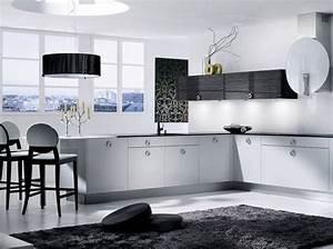 Cuisine Noir Et Blanc : noir et blanc habillent la cuisine elle d coration ~ Melissatoandfro.com Idées de Décoration