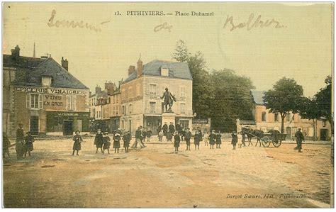 45 pithiviers epicerie place duhamel superbe carte toil 233 e 1907 caf 233 de la porte d orl 233 ans