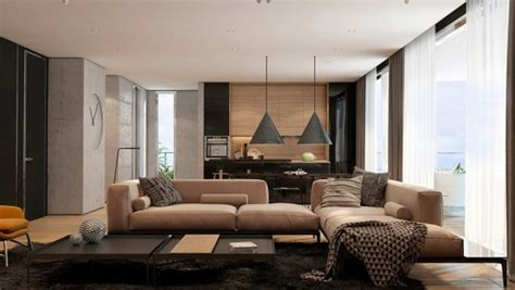 Two Apartments With Texture One Soft One Sleek by 2 Masculine Interiors In Shades Of Grey Black Brown