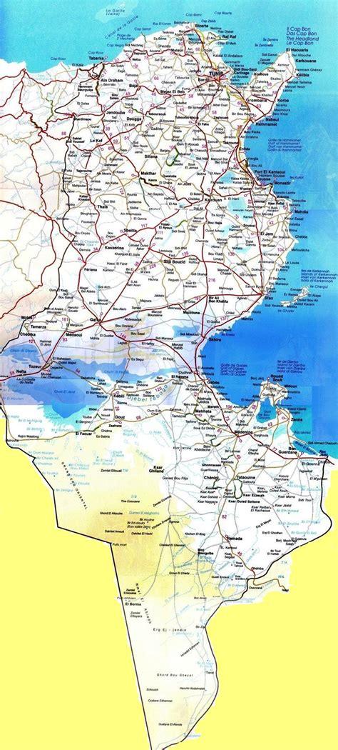 Carte Du Monde Tunisie by Cartograf Fr La Tunisie