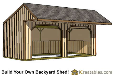 12x24 Loafing Shed Plans by Run In Shed Plans Building Your Own Barn Icreatables