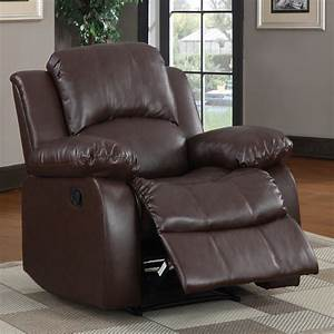 homelegance newwell leather push back recliner at hayneedle